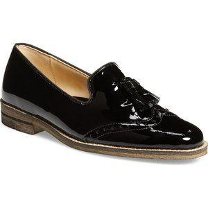ARA Kayla Black Patent Leather Loafer, 11